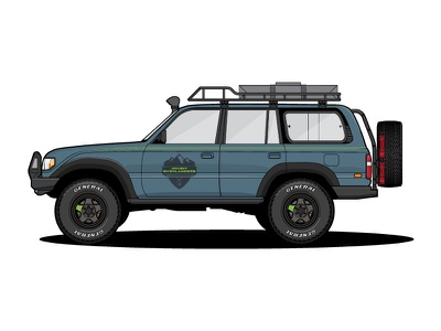 Project Overlander FJ80 Land Cruiser land toyota cruiser overland truck livery illustration