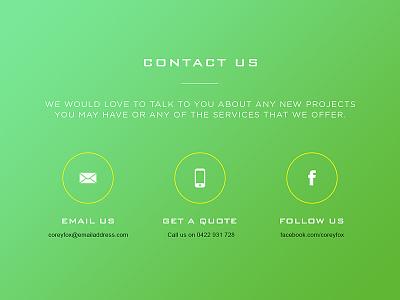 Coreyfox flat ui interface icons minimal contact contact us website