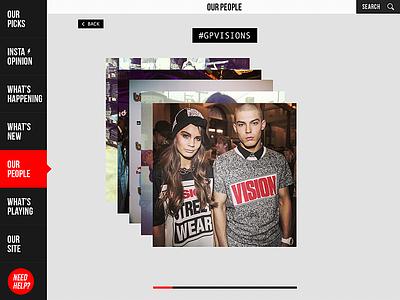 Gp Coverflow coverflow interface ipad ui ux fashion design