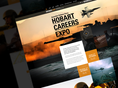 Hobart Careers Expo website military grid squares responsive layout modular mobile