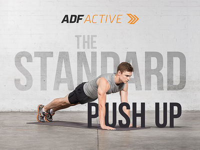 ADF Active logo workout exercise branding typography