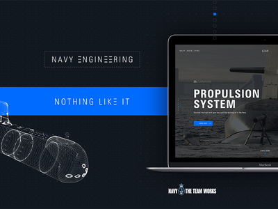Navy Engineering engineering military technology responsive website design