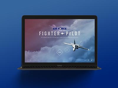 Fighter Pilot Experience gui interface design technology responsive website design