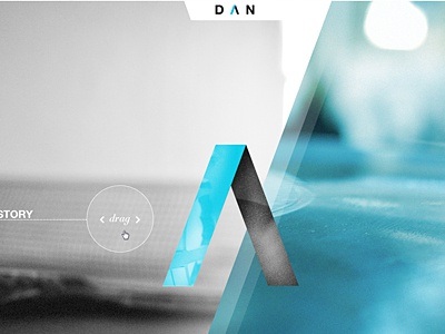 DAN agency site concept interface website interactive