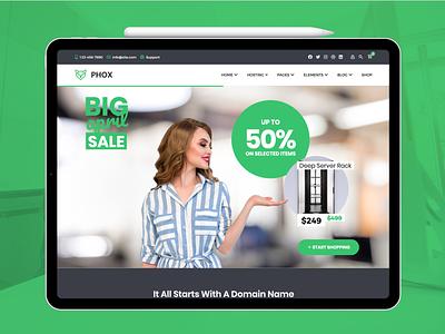 Phox - WoHost webdesign whmcs host web ux ui wordpress envato themeforest hosting