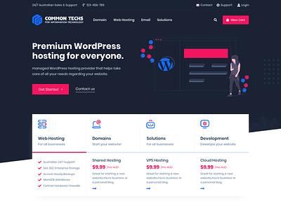 CommonTechs - Hosting WordPress Theme design wordpress web ux ui host whmcs hosting