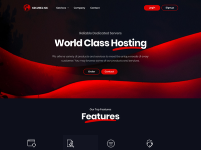 Game Servers For Secured.gg minecraft html template whmcs ux ui host hosting server game