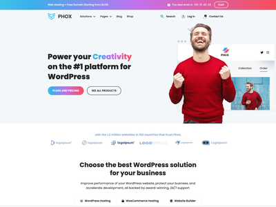 Phox Fancy Demo themeforest website webdesign website design whmcs themes wordpress host hosting corporate design business