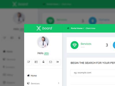 Xboard admin board dashboard ux ui modern flat xboard whmcsdes whmcs