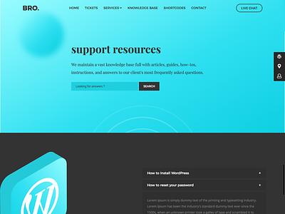 Bro Support themeforest envato cms fix technical wordpress ux ui support