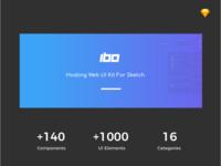 Ibo - Hosting Web UI Kit For Sketch