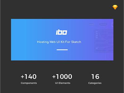 Ibo - Hosting Web UI Kit For Sketch envato themeforest sketch webdevelope webdesign webhosting hosting web ux ui
