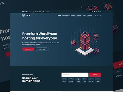 Phox - Responsive Hosting WordPress Theme wordpress host ux whmcs hosting envato themeforest