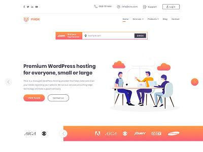 Phox - Responsive Hosting WordPress Theme host webdesign web whmcs wordpress envato themeforest hosting ui ux