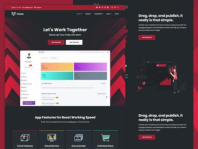 Phox - Saas Dark envato web saas design saas app saas themeforest ui ux
