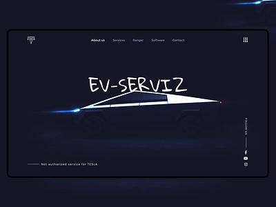 EV-SERVIZ Jordan cybertruck ux ui car tesla