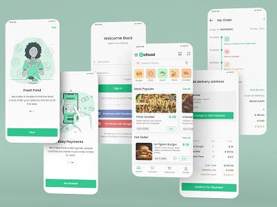 Food App UI/UX Design uiux design food app app design