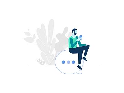 Customer Conversation illustrator vector plants drawing digital minimal art conversation messaging business illustration