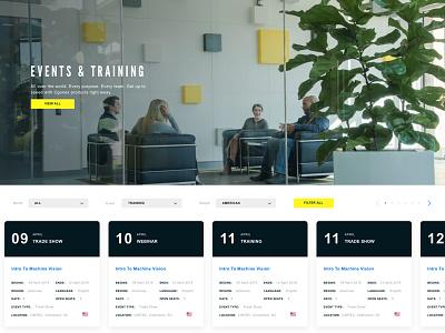 Events Calendar design responsive interface typography date cards desktop ux ui training events calendar