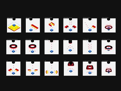 Machine Vision Iconography ui ux modern icons illustrator deep-learning light iconography artificialintelligence ai machinevision minimal vector icon design