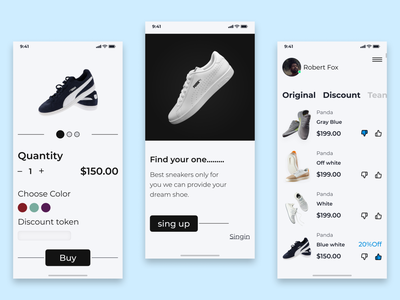 Shoe adobexd shoeapp shoe android ios androidappdesing iosappdesing uiux branding illustration landingpage applicationdesing application figma design notifications100 appdesing