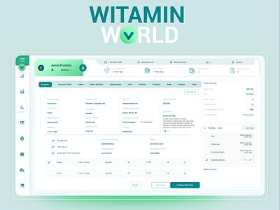 Vitamin World CRM ui ui ux crm design
