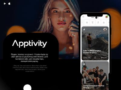 Apptivity ui design mockup app adobe xd  app design app adobe xd ios design ui design ux design