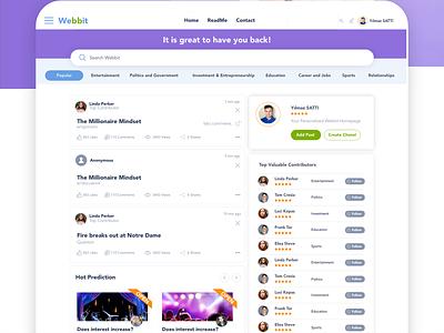Webbit Startups branding adobe xd  app ux design design app ui design