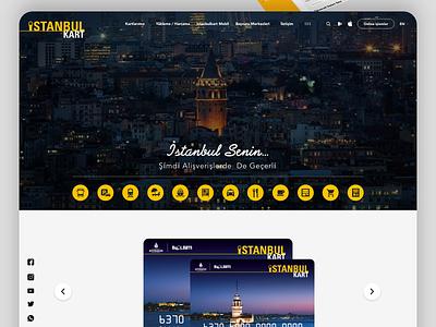 istanbulkart  Web UI UX design ui design ux design