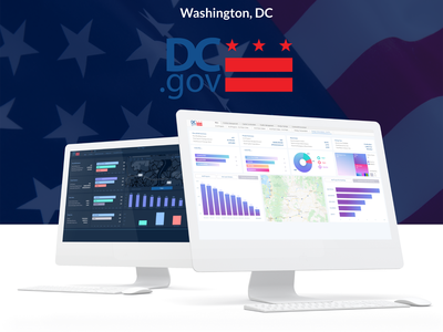 WashIngton, DC – UI UX dashboard ui adobe xd  app adobe xd ui design ux design