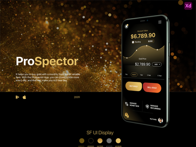 ProSpector adobe xd  app ios design design app ux design ui design