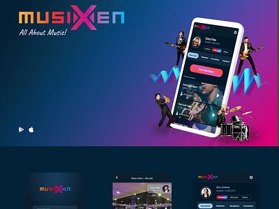 musiXen, UI UX Design, App Design music app live music music android adobe xd app ux design adobe xd  app ios design ui design design app ux design