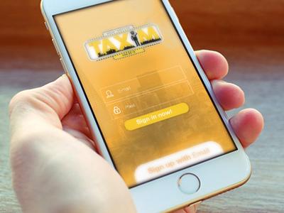 Taxim app ios design app ios design mockup ux design ui design