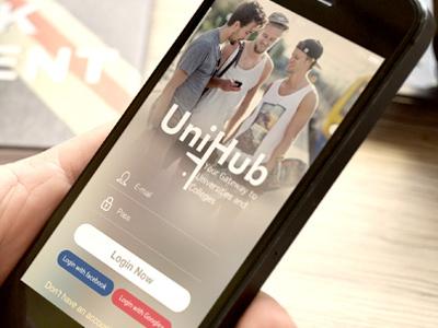 Unihup - universities search app ios design app ios design mockup ux design ui design