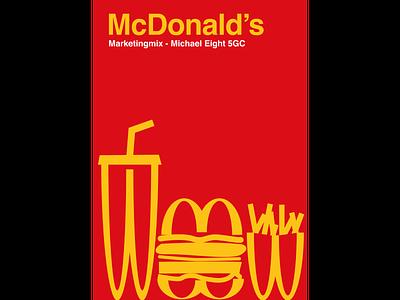 McDonald's marketingmix indesign typography illustration graphic design flat art book cover
