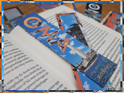 OMA art expo Bookmarkers art expo expo painting typography design graphic design art flat