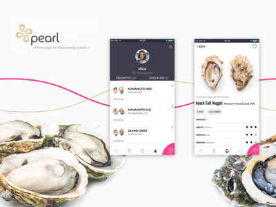 Pearl iPhone App nytimes forbes food tech objective-c angularjs appstore restaurant food ios iphone mobile app ui ux design