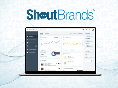 ShoutBrands digital marketing social media business strategy ui analytics dashboard dashboad analytics website web ux design