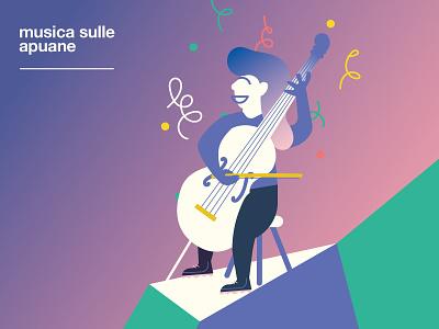 Musica sulle Apuane -  Cellist cellist festival happy smile flat internazionale montura strings mountains character music