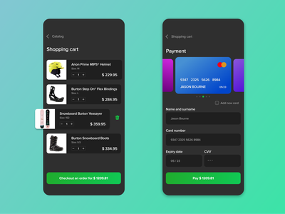 Shopping Cart and Checkout Form checkout burton ux form design dailyui app ui