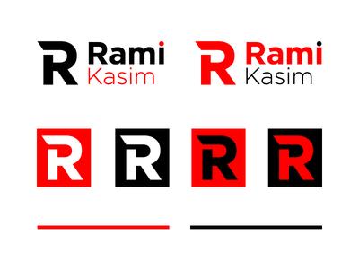 RK Monogram personal black red logo monogram rk