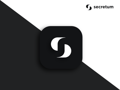 Secretum secret black logo app icon