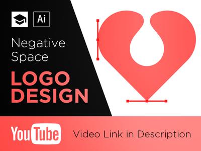 Negative Space Logo Design in Illustrator youtube video illustrator adobe space negative tutorial logo