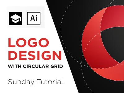 Circular grid Logo Design tutorial circle guidelines grid youtube video illustrator adobe space negative tutorial logo