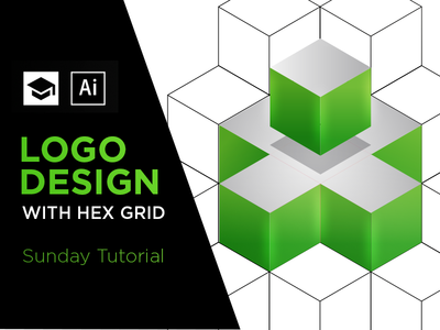 Logo Design Tutorial illustrator hex isometric 3d design logo