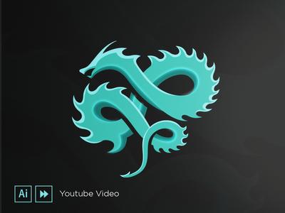 Dragon dark youtube tutorial speedart video design logo dragon