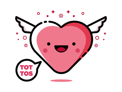 TOTOS smile love happy pink character cute heart