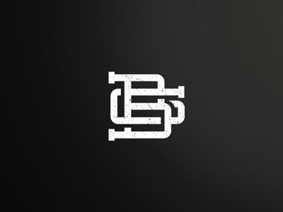 GB Monogram tutorial.vintage logo monogram gb