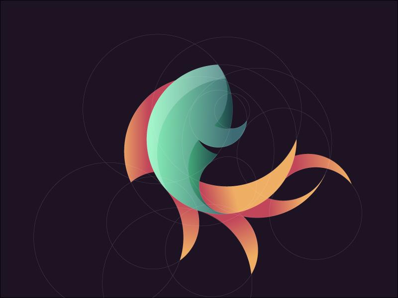 Golden Fish logo mean section ratio golden fish
