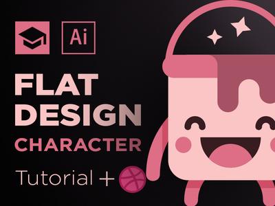 Flat Design Character bucket paint cute character design flat